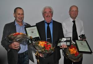 Årets Avløysarar i Nord. Frå venstre: Alf Børge Vonheim, Magne Engdal og Jan Pål Fugledal.