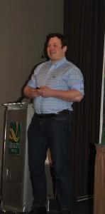 Årets unge bonde 2014, Tor Jacob Solberg haldt eit fantastisk innlegg.